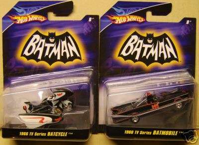 batmobile batcycle set