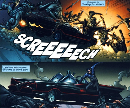 Batmobile in Nightwing